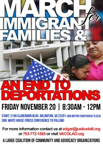 March for Families and and End to Deportations 11.20.15 White House
